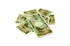 Japanese Yen for commercial on white background Stock Photos