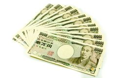 Japanese Yen for commercial on white background. Royalty Free Stock Photos