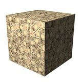 Japanese Yen cube Royalty Free Stock Images