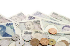 Japanese Yen currency. Bills background Royalty Free Stock Photography