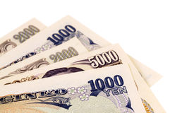 Japanese Yen currency bills Royalty Free Stock Photography