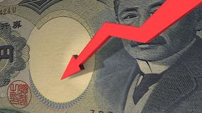 Japanese Yen currency value down
