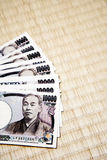 Japanese yen notes Stock Images