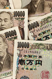 Japanese yen notes. Royalty Free Stock Photo