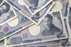 Japanese yen notes Stock Photo