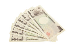 Japanese yen notes Royalty Free Stock Photography
