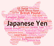 Japanese Yen Represents Currency Exchange And Broker Stock Image