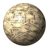 Japanese Yen sphere Royalty Free Stock Photos