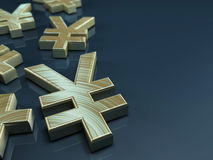Japanese yen symbol Stock Photography