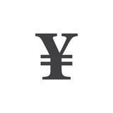 Japanese Yen symbol.  sign, solid logo illustration, picto. Gram isolated on white Royalty Free Stock Photos