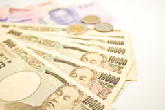 Japanese yen and thai baht Royalty Free Stock Image
