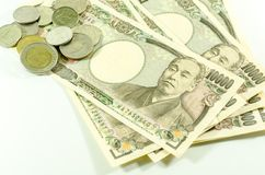 Japanese Yen and Thai Bath for commercial Royalty Free Stock Images