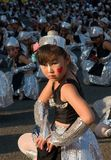 Japanese young children Festival Dancers Royalty Free Stock Photos