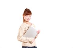 Japanese young woman with laptop computer� Stock Photo