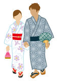 Japanese Yukata couple,. 