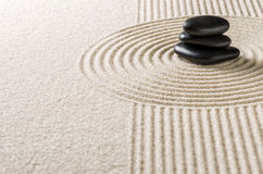 a japanese zen garden Royalty Free Stock Images