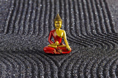 Japanese ZEN garden with Buddha Royalty Free Stock Images