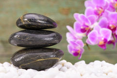 Japanese ZEN garden with feng shui Royalty Free Stock Images