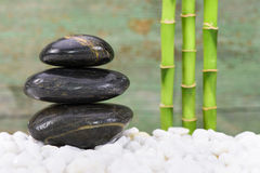 Japanese ZEN garden with feng shui. And stacked stones stock photography
