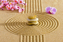 Japanese ZEN garden with feng shui royalty free stock photography