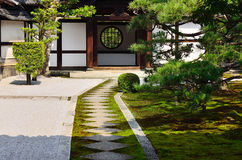 Japanese Zen garden of Kenninji temple, Kyoto Japan. Stock Photography