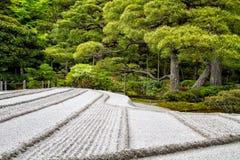 Japanese Zen Garden. In Kyoto, Japan Stock Photo