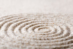 Japanese zen garden meditation for concentration and relaxation sand for harmony and balance in pure simplicity Royalty Free Stock Photo