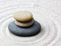 Japanese zen garden meditation stone Stock Photo