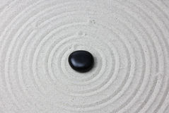 Japanese zen garden meditation stone.. Royalty Free Stock Photos