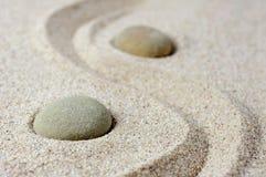 Japanese zen garden meditation stones Stock Images