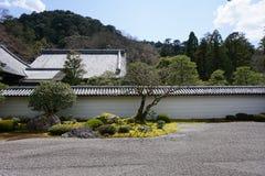 Japanese zen garden in Nanjenji temple, Kyoto Stock Photography