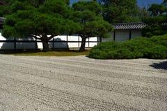 Japanese Zen garden of Ninnaji temple, Kyoto Japan Stock Images