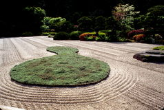 Japanese Zen Garden in Oregon Royalty Free Stock Images
