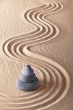 Japanese zen garden sand and stones Stock Photography