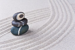 Japanese Zen garden stone Stock Images