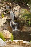 Japanese Zen Garden Stream. Beautiful Japanese Zen Garden Stream with Time-Lapse Slow Shutter Stock Photography