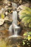 Japanese Zen Garden Stream. Beautiful Japanese Zen Garden Stream with Time-Lapse Slow Shutter Royalty Free Stock Image