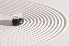 Japanese ZEN garden with yin and yang Royalty Free Stock Photo