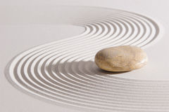 Japanese ZEN garden with yin and yang Royalty Free Stock Photos