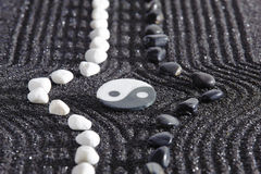 Japanese ZEN garden with yin and yang Royalty Free Stock Photography