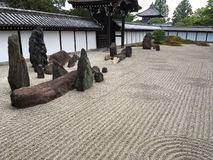 Japanese zen rock garden royalty free stock photos