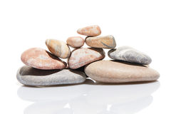 Japanese zen stone garden isolated on white Stock Photography