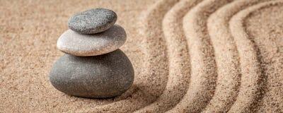 Japanese Zen stone garden Stock Image
