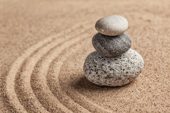 Japanese Zen stone garden Stock Photography