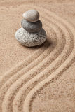 Japanese Zen stone garden Royalty Free Stock Photos