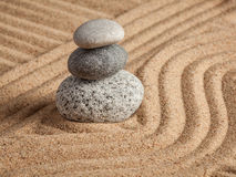 Japanese Zen stone garden Stock Photo