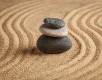 Japanese Zen stone garden Royalty Free Stock Images