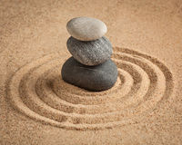 Japanese Zen stone garden Royalty Free Stock Photography