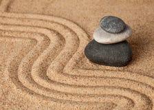 Japanese Zen stone garden Royalty Free Stock Photo