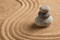 Japanese Zen stone garden Royalty Free Stock Images